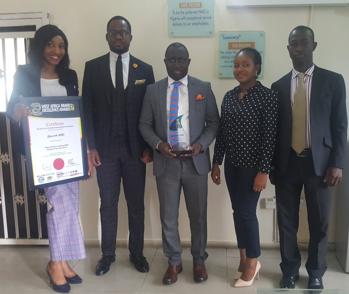 LifeWORTH wins Nigeria's Leading HMO Brand 2019